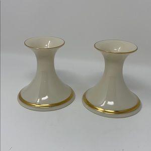 Lenox Candlesticks Vintage Gold Trim Made in USA!